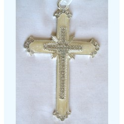 Ivory hanging cross-69D