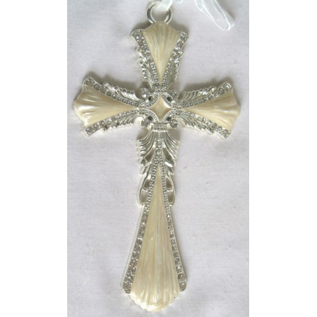 Ivory hanging cross-16D