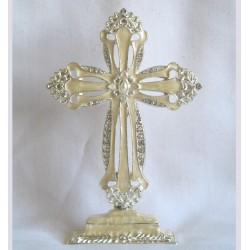Ivory standing cross-9D