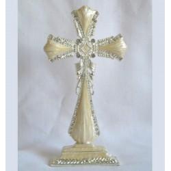 Ivory standing cross-01D