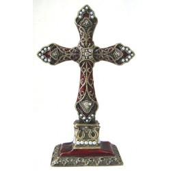 Burgundy standing cross